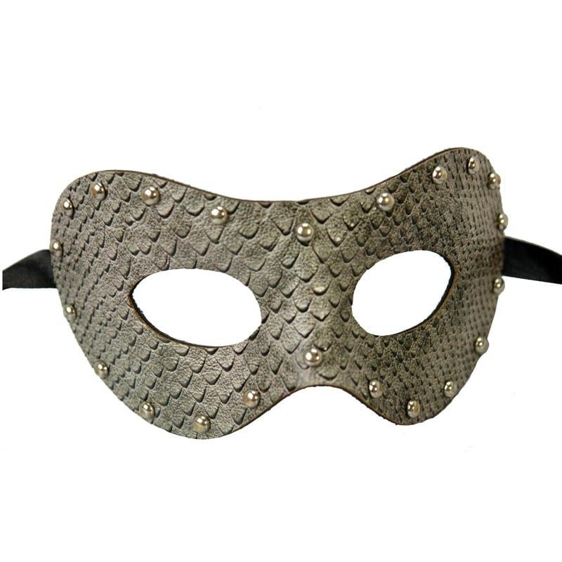 Snake Gray Leather Mask 5