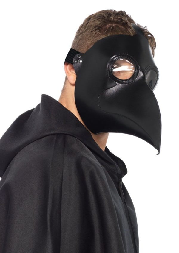 Faux Leather Plague Doctor Mask 2
