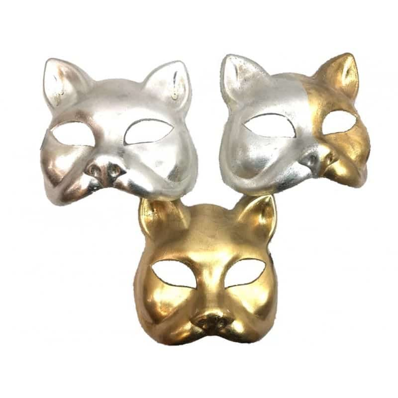 Gold/Silver Cat Face Mask 3