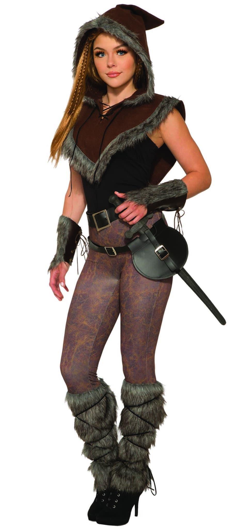 Viking Fur Trim Hooded Caplet 5