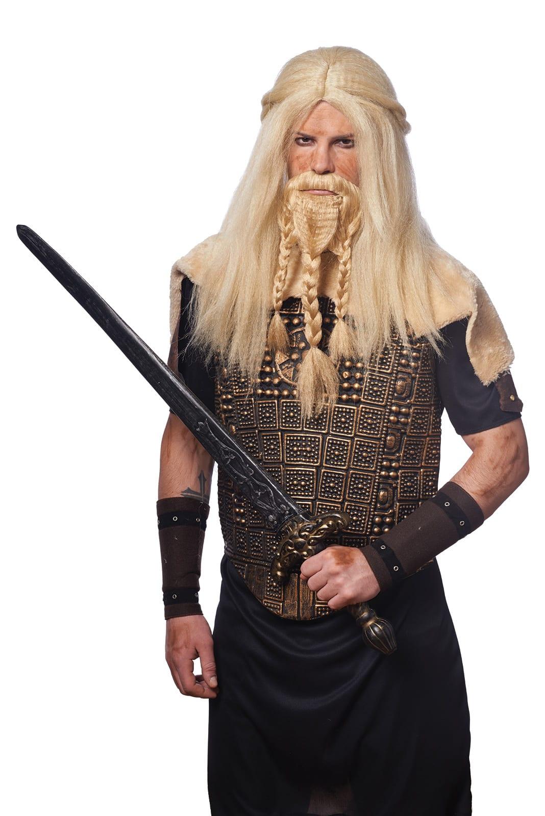 Blonde Viking Wig & Beard 5