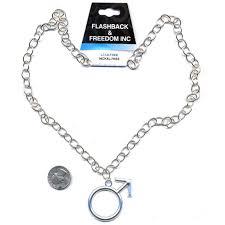 Male Symbol Silver Necklace 5