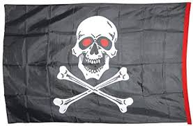 Giant Pirate Flag 2 Sides 6X4 12