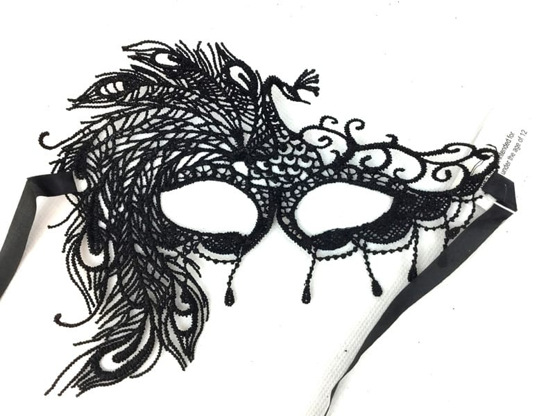 Black Lace Brocade Mask 6
