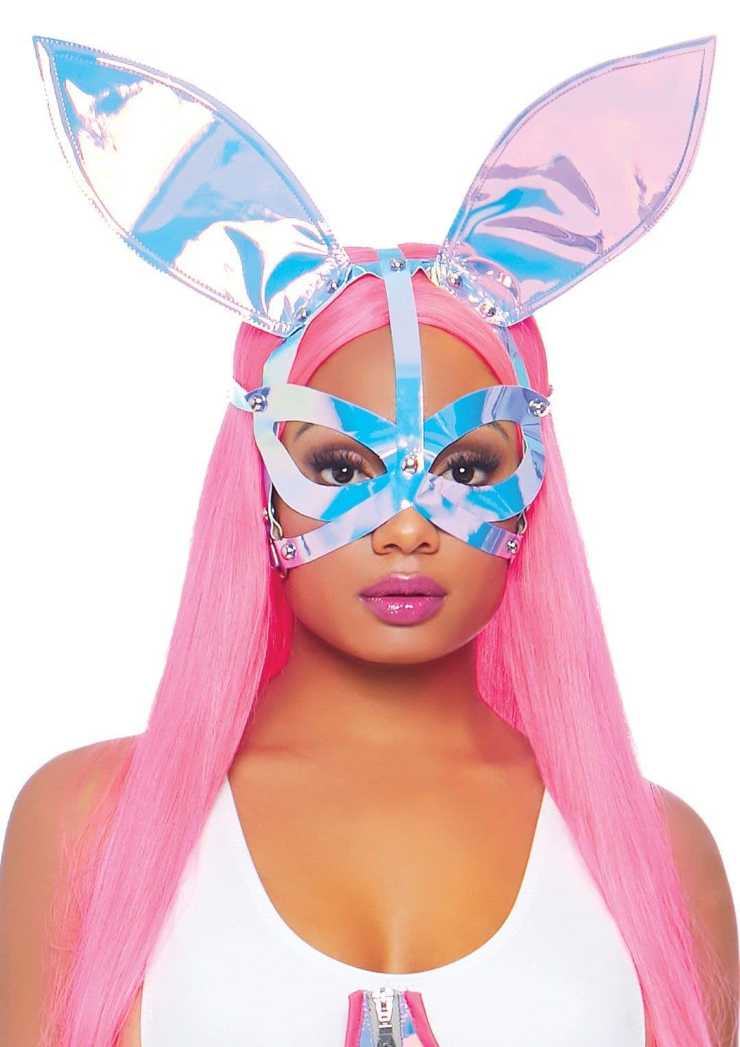 Holographic Bunny Ear Vinyl Mask 3