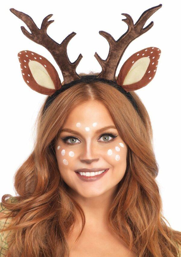 Deer Fawn Antler Headband 1