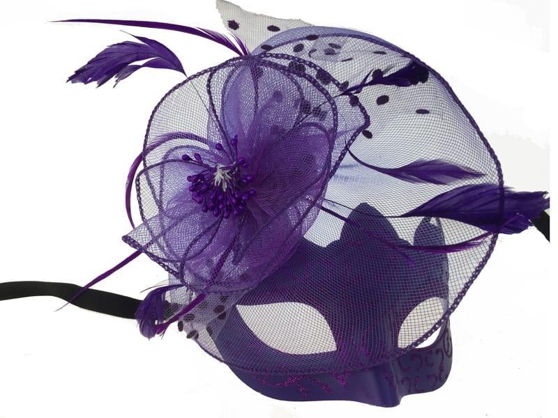 Purple Masquerade Mask 10