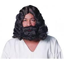 Deluxe Brown Jesus Beard & Wig 12