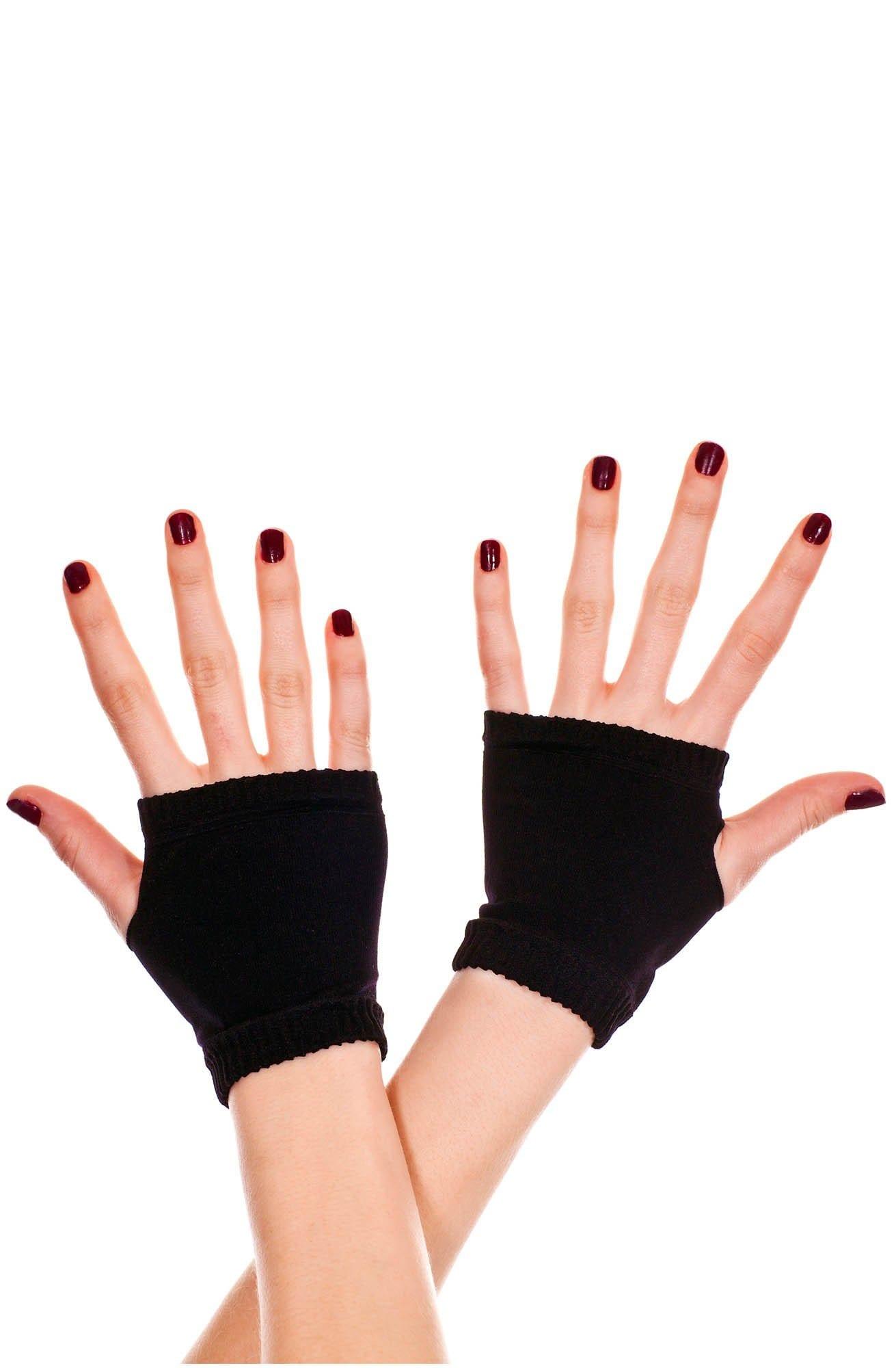 Black Fingerless Gloves 4