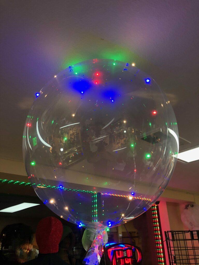 LED balloon.