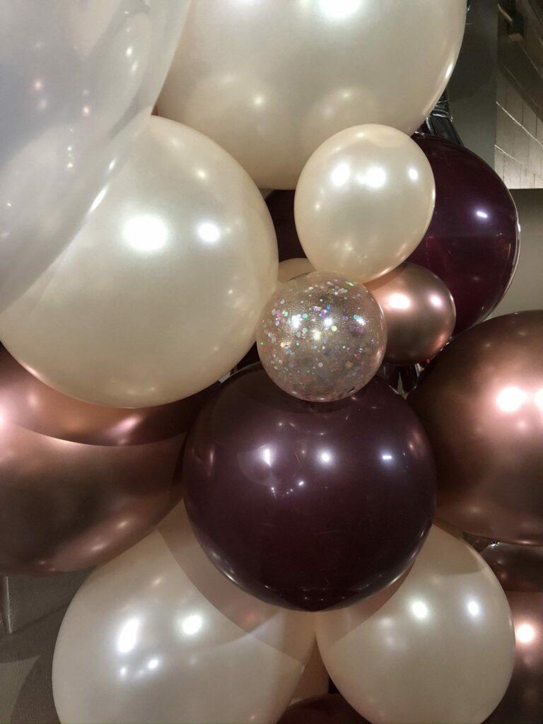 Glitter balloons.