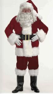 Deluxe burgundy velvet santa suit size extra largerental size