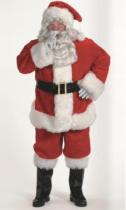 Profession plush red santa rental size double extra large