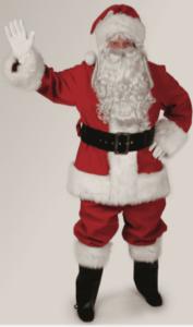 red velvet santa suit rental size extra large