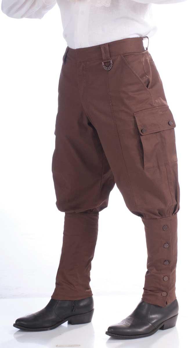 Brown Steampunk Pants 4