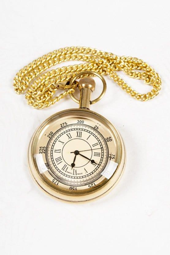 Gold Pocket Watch w/ Chain 4