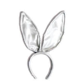Deluxe Satin Bunny White Ears 6