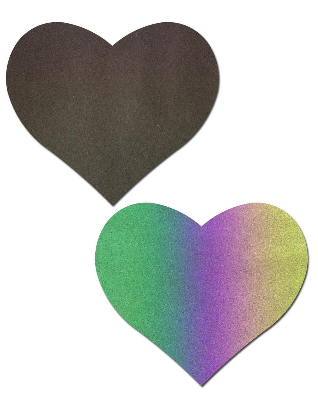 Love: Reflective Rainbow Heart Nipple Pasties 5