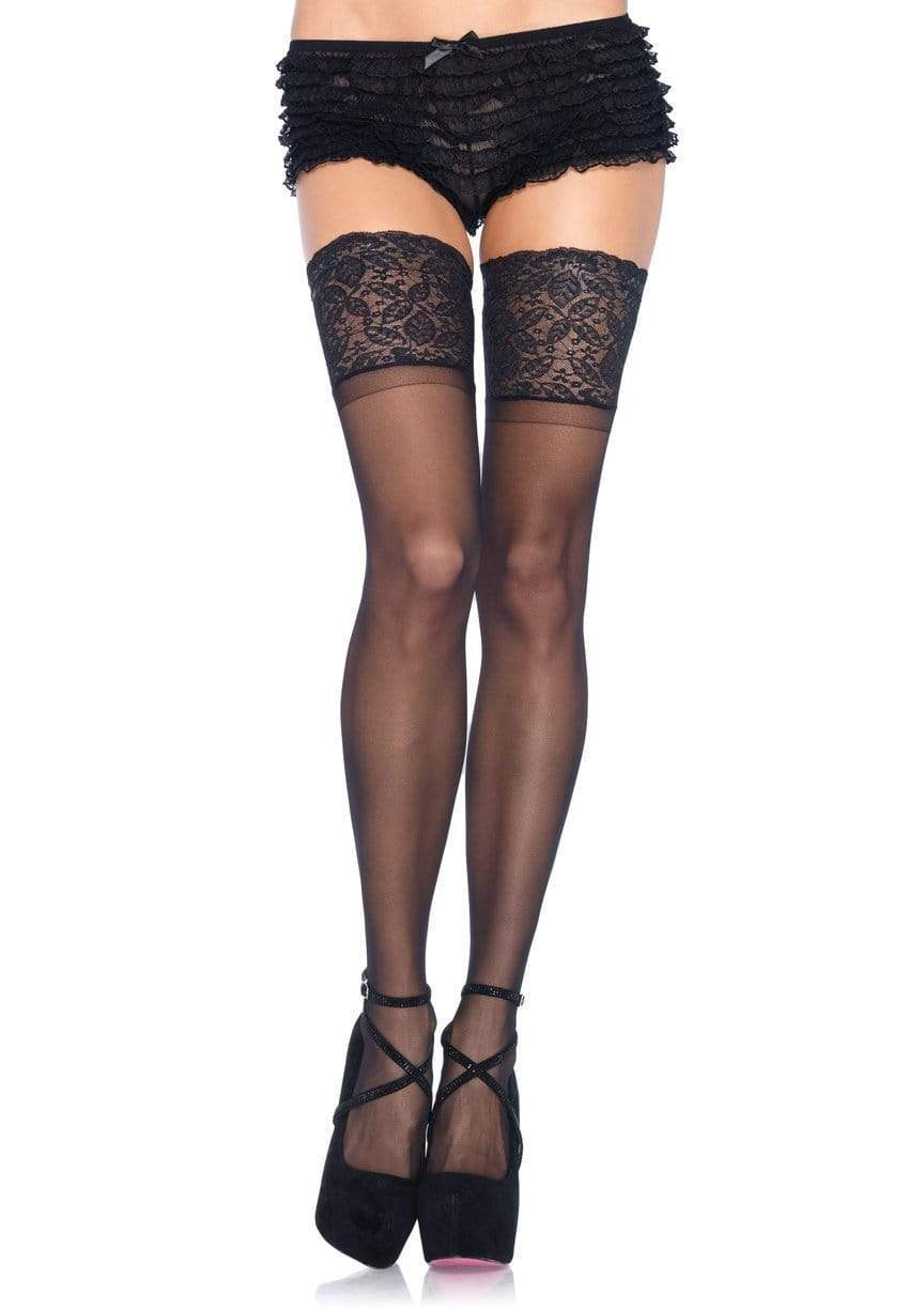 Plus Size Stay Up Sheer Thigh Highs 12