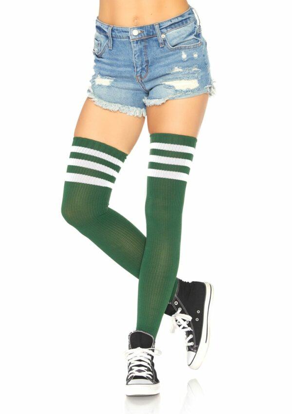 Athletic Thigh Hi Striped Sock 1