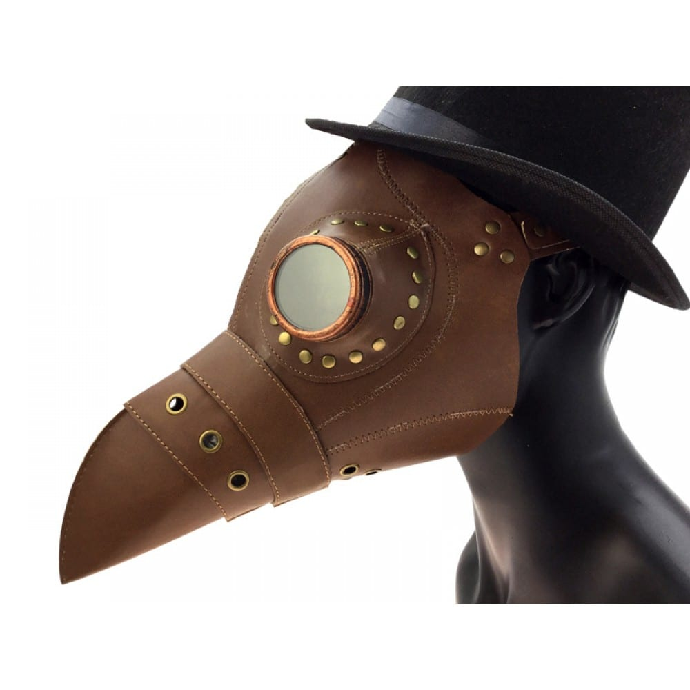 Brown Leather Plague Mask 4