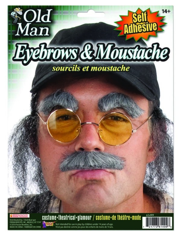 Old Man Eyebrows and Moustache 1