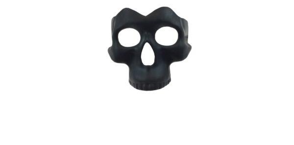 Black Half Skull Mask 2