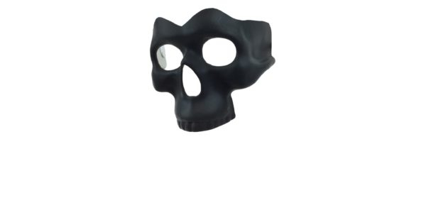 Black Half Skull Mask 1