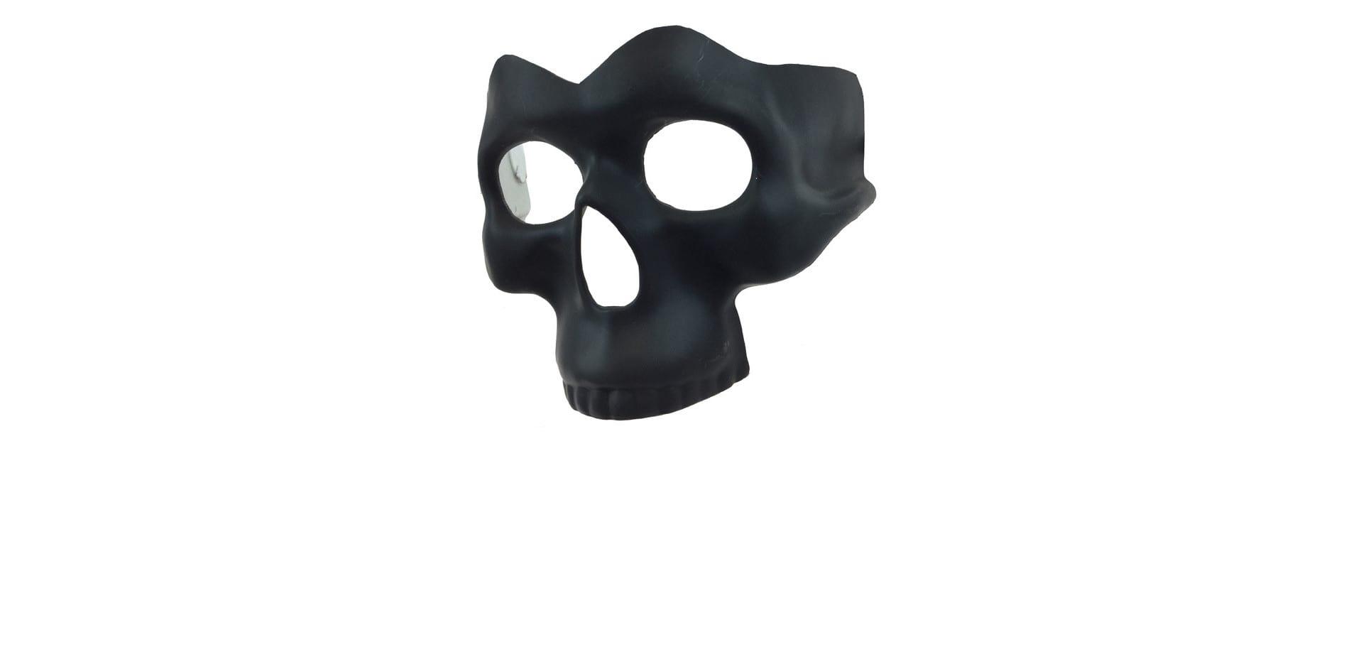 Black Half Skull Mask 5