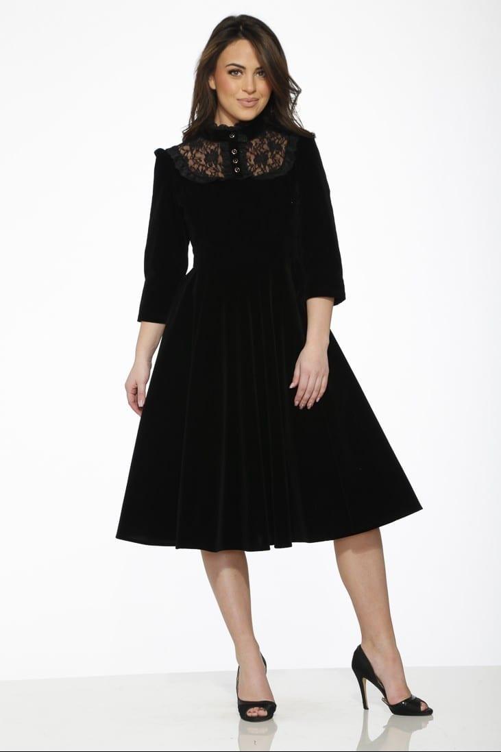 Nightshade Black Velvet Dress 8
