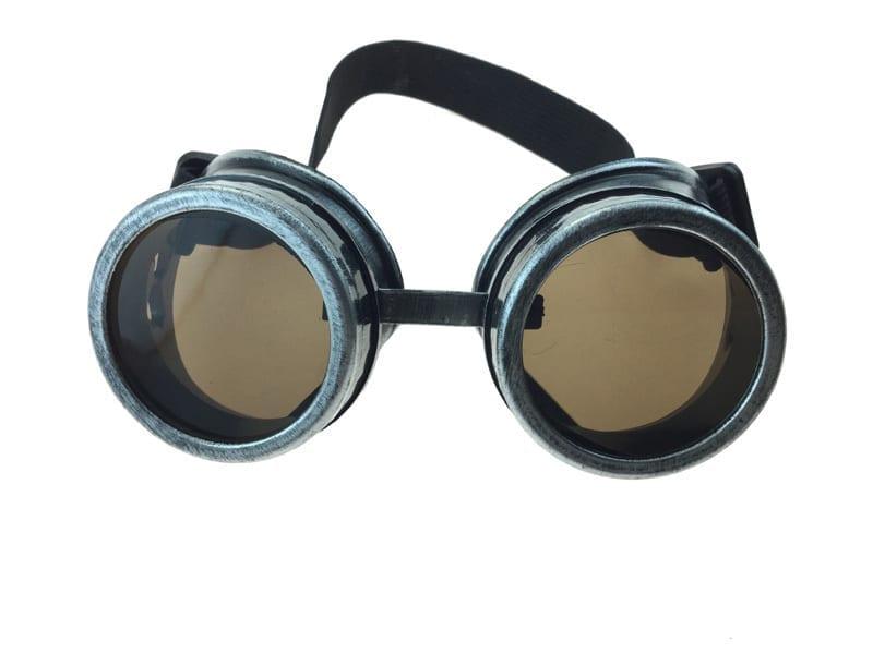 Steampunk Goggles Silver/Black 6