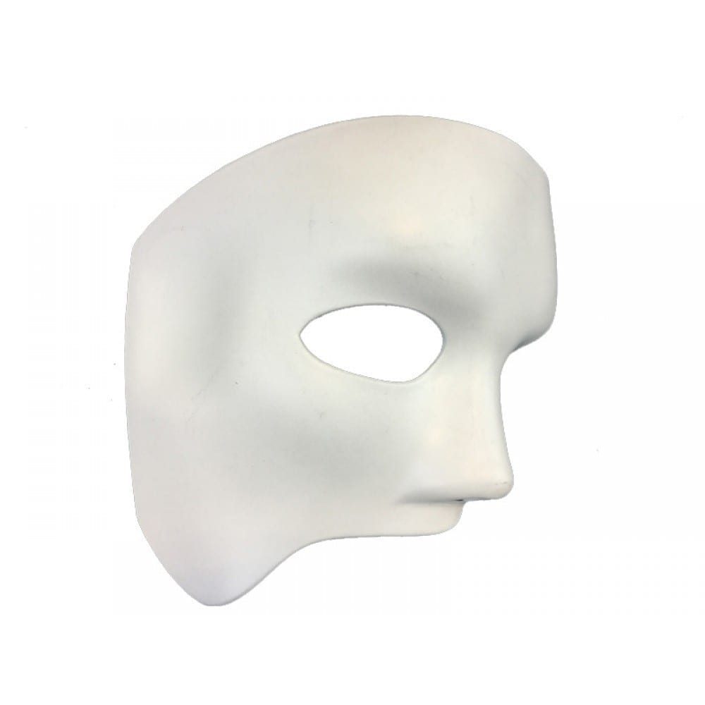 White Venetian Opera Phantom Mask 7