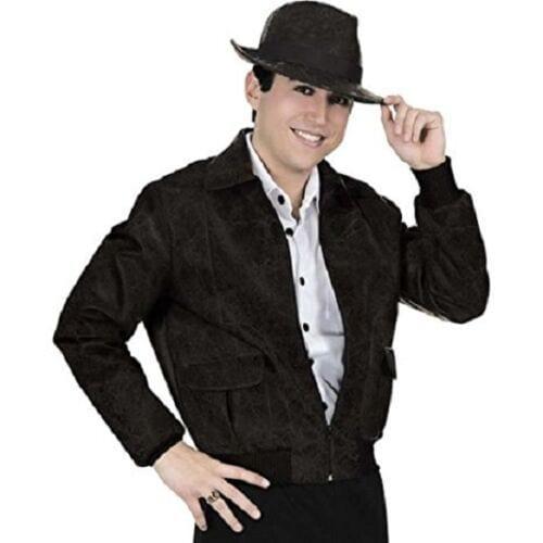 Distressed Leather Black Jacket 3XL 7