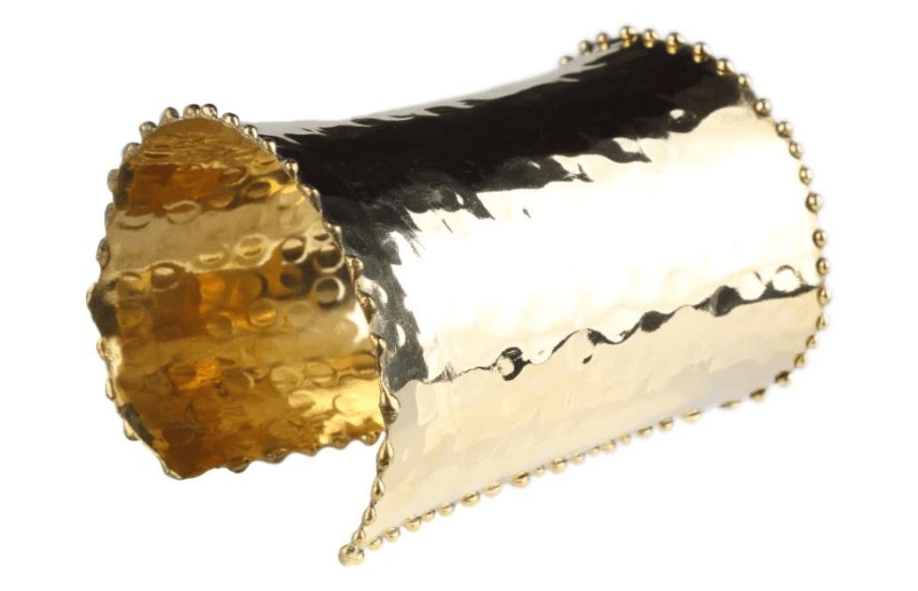 Hammered Cuff Gold 1
