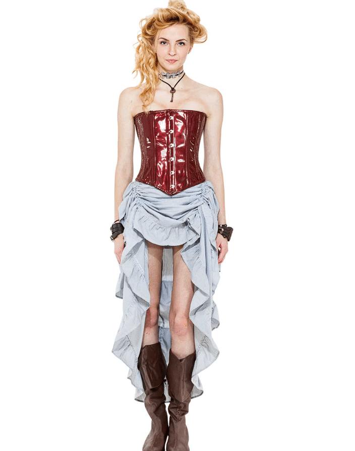 Steampunk Pinstripe Skirt 8