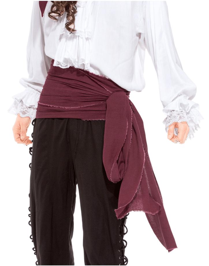 Pirate Linen Large Sash 2