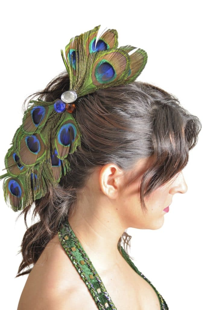 Peacock Feather Hairpin 10