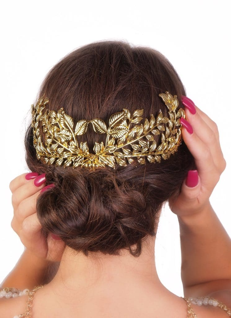 Gold Etched Leaves Headdress 11