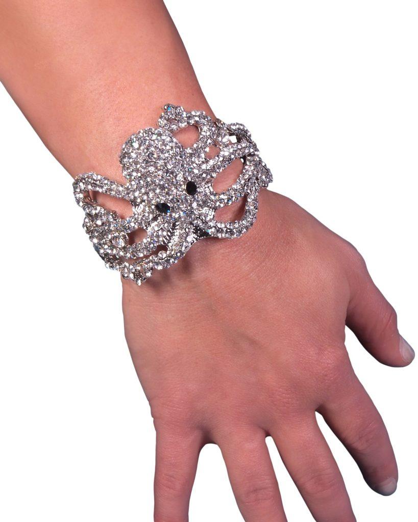 Clear Octopus Hinge Bracelet 8